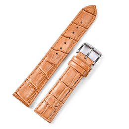 24mm leather watch straps Canada - Watchbands New Brand Leather Watch Band 20mm 24mm Strap Watches Bracelet Accessories White Brown Men Women Watchband For Watch