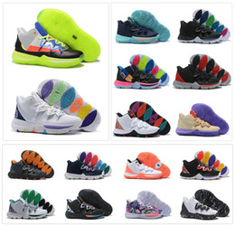 Kids sneaKer sizes online shopping - Hot Boys Kids Kyrie V All Star Basketball Shoes Irving S Men Youth Girls Women Zoom Sport training Sneakers High Ankle Size