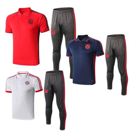 best training shirt UK - Best-selling new Bayern soccer training suit LEWANDOWSKI football shirt MULLER short sleeve soccer jerseys JAMES ROBBEN polo tracksuits suit