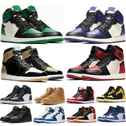 HigH tops soccer boots online shopping - New High OG Bred Toe Chicago Banned Game Royal Basketball Shoes Men s Top Shattered Backboard Shadow Multicolor Sneakers With Box