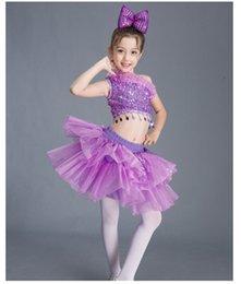 Children s Performing Dresses Female Pompon Skirt Segments Children s Chorus  Dance Costume Show New Cheerleading 5d1cd9e6b74d