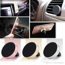 magnet air Australia - Universal Air Vent Magnetic Car Holder Magnet Smart Phone Holder Stand Aluminum Silicone Mount Handfree Bracket For iPhone 7 amsung S8