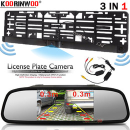 lcd screen resolutions Australia - Koorinwoo Hight Resolution EU Car License Plate Frame camera With Car Parking Camera Rear Parking Monitor Mirror LCD Screen