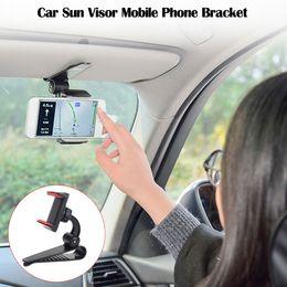 Visor gps online shopping - Hot Sales Car Accessories Car Sun Visor Clip Mount GPS Mobile Phone Holder Stand Bracket Rotatable Top Brand Car Styling