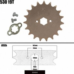 parts for quad Canada - Front Engine Sprocket 530 19T 20mm For 530 Chain With Locker Motorcycle Dirt Bike PitBike ATV Quad Parts Buy Atv Online Cheap Buy Atv nwLo#
