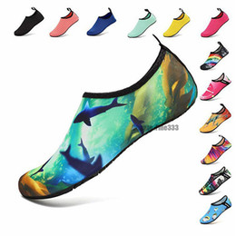 ShoeS year old kid online shopping - 50Models Water Sports Shoes Barefoot Quick Dry Aqua Yoga Socks Slip on for Men Women Kids DHL Diving Socks