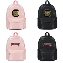 $enCountryForm.capitalKeyWord Australia - South Carolina Gamecocks football Gold logo Harajuku Women Men Water Resistant Black Canvas School Casual Wip Backpack cool Student Male