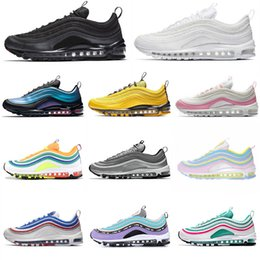 Discount rainbow shoes summer - 2019 Cushions Shoes Tennis OG Bright Citron Gym Red Leopard Rainbow triple white Grape Black Mens Womens Running Shoes D