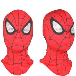 Kids Face Mask Red Australia - Adult & Kids Spider-Man Spider Man Head Mask Spiderman Hood Halloween Masks For Birthday and Christmas gifts