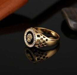 $enCountryForm.capitalKeyWord Australia - zircon Gold Silver Colors Classic Men's Punk Style Hip Hop Ring Lion Head males man Finger rings for men women Size 6-13