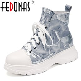 $enCountryForm.capitalKeyWord Australia - FEDONAS Plus Size Casual Shoes Woman Sweet Women Platform Ankle Boots Shoes Winter Warm Short Boots Genuine Leather Female