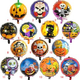 $enCountryForm.capitalKeyWord Australia - Halloween Aluminum Film Decoration Balloons 18 Inches 14 Designs Kids Toys Inflatable Cartoon Animal Pumpkin Printed Festival Decoration 08