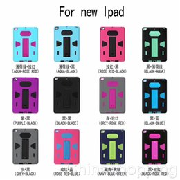 Wholesale Hybrid PC Silicone Armor Case Heavey Duty Cover For new iPad Mini iPad Air iPad Pro