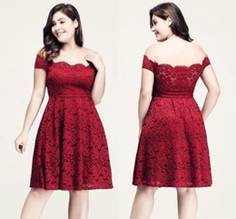 $enCountryForm.capitalKeyWord NZ - Sexy Arrival Crimson Plus Size Off The Shoulder Evening Dresses Full Lace Party Gowns Mother of The Bride Dress Special Occasion Dresses