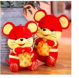 chinese plush Australia - 25cm New brand 2020 Rat Year Mascot Toy New Year Plush Rad Mouse Soft Doll Chinese New Year Party Decoration Gift