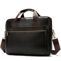 Leather briefs for men online shopping - Men Zipper Brief Case Leather Bag Men Laptop Office Bags For Genuine Leather Laptop Maletines hombre Men s Portfolio