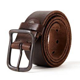 $enCountryForm.capitalKeyWord Australia - 2018 Male Belts Vintage Cowboys 100% Real Full Grain Genuine Leather Pin Buckle Belt Men High Quality Ceinture Soft Luxury Jeans C19010301