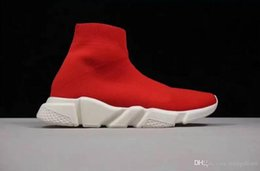 red evening shoes 2019 - 2019 Best Sock Boots Fashion Brand Designer Evening Party Boot Red Yellow Speed Trainer Casual Shoe Man Woman Sock Boots