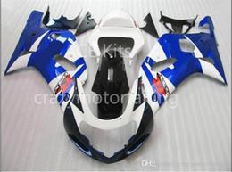 K1 Blue Australia - 3 gifts Fairing For SUZUKI GSXR600 GSXR750 01-03 GSXR 600 750 GSX R600 R750 K1 01 02 03 2001 2002 2003 GSXR-600 Fairing Kit Blue White