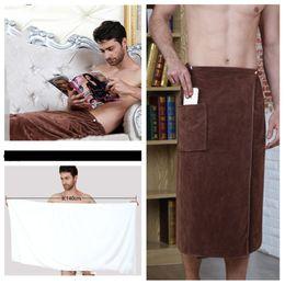 Halloween Towels Australia - new 140*70cm men's wearable magic towels men's bath towel with pocket soft beach towel Children's bath towel T2I5133