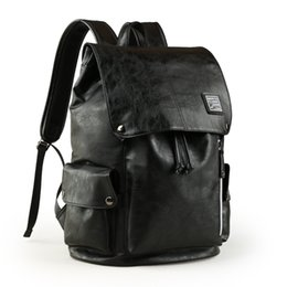 $enCountryForm.capitalKeyWord Australia - Designer-Hot Sell Fashion backpack Black men Style Double Shoulder Bags Duffel Bags PU leather School bags computer bag 42*31*17CM