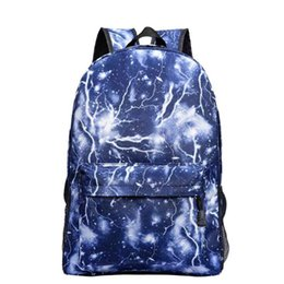 clear color backpack Australia - Dropshipping School Bag Noctilucous Luminous Backpack Student Bag Notebook Backpack Daily Backpack Glow In The Dark Y19061102