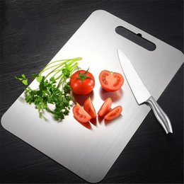 kitchen blocks Australia - Stainless Steel Chopping Block Antibacterial Anti-mildew Cutting Boards Board Kitchen Mold-free Fruit Vegetable Meat Tools