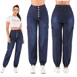 Factory direct jeans online shopping - Factory direct sales real shoot hot women s jeans high waist nail buckle leggings casual pants denim women s pants