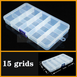bead organizer container Australia - Container 15 grids Plastic Box Practical Adjustable Compartment Jewelry Bead storage case Screw Holder Case Display