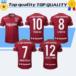 23a97214bf2 New 19 20 Japan J.League Vissel Kobe soccer jersey 2020 Home Red  8  A.INIESTA Soccer Shirts PODOLSKI DAVID VILLA Football Uniform