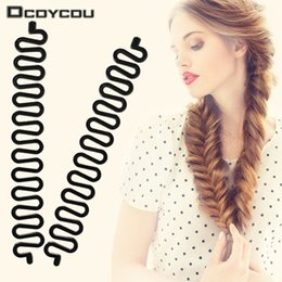 Ladies Hair Rollers Australia - Women Lady Hair Braiding Accessories Braider Roller Hook With Magic Hair Twist Styling Bun Maker Band
