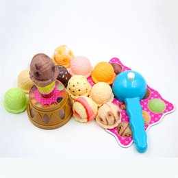 Wholesale Artificial Ice Cream Tower Jenga Toys Early Education Family Party Parent Child Interaction Game Kids Creative Toy jm O1