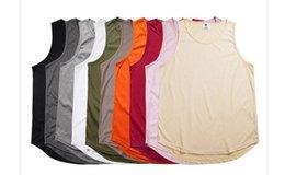 $enCountryForm.capitalKeyWord Australia - Extended Summer T Shirt Longline Hip Hop Tee Shirts Kanye West Sleeveless Men's T-Shirts Black White