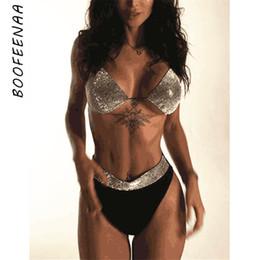 $enCountryForm.capitalKeyWord NZ - BOOFEENAA Summer Two Piece Set Sexy Underwear Matching Sets Rhinestone Bralette Crop Top Shorts Crystal Club Outfits C54-AA64