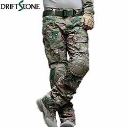 6404f78e97f98d Camouflage Military Tactical Pants Army Military Uniform Trousers Airsoft  Paintball Combat Cargo Pants With Knee Pads Y190422