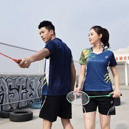 Sportswear T Shirt Badminton Australia - 2019 New Sportswear Quick Dry Breathable Badminton Shirt,Women Men Table Tennis Professional Team Game Running Training T Shirts
