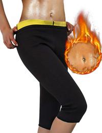 Calças de emagrecimento das mulheres hot neoprene para perda de peso de gordura queima de suor sauna capris leggings shapers esporte venda por atacado