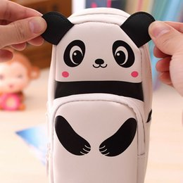 sale cosmetics box Australia - New Sale Cute Panda Large Capacity Pen Pencil Case Pen Box School Stationery Cosmetic Bag