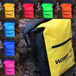 Wholesale Soccer Gears Australia - 25L Waterproof Dry Bag Sack Keep Gear Perfect for Kayaking Rafting Boating Hiking Outside Sports Bags Waterproof Backpack Storage M237Y