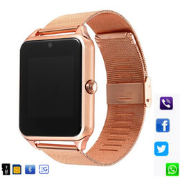 $enCountryForm.capitalKeyWord Australia - Z60 Smart Watch GT08 Plus Metal Clock With Sim Card Slot Push Message Bluetooth Connectivity Android IOS Phone Smartwatch PK S8