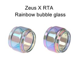 x tanks NZ - For Geekvape Zeus X RTA replacement rainbow bubble glass tube in stock ecig vape glass bubble fat boy tank