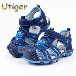closed toe sandals NZ - Summer Boy Beach Sandals Kids Shoes Closed Toe Sandals For Boys Cut Out Non-slip Breathable Flats Shoes Sandals For Children Y19062001