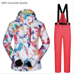 mountain waterproof jacket NZ - Female Jacket+pants Ski Suit Sets Waterproof Windproof Breathable Mountain Skiing Snow Outdoor Snowboarding Women Clothes