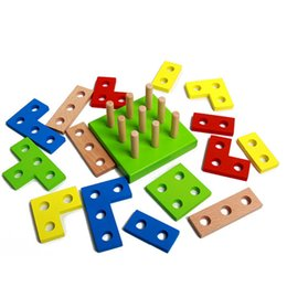 $enCountryForm.capitalKeyWord NZ - Puzzles Wooden Puzzle Board Education Learning Baby Column Shapes Stacking Toys Children Kid girls educational Game child Board