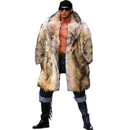 Mens Parka Leather Canada - 2018 Mens Real Fur Coat North Winter Faux Fur Outwear Windbreaker Both Side Coat Men Punk Parka Jackets Leather Brand Overcoats