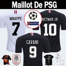 2018 2019 PSG Third Maillot MBAPPE Soccer Jerseys 4th CAVANI Thailand 18 19  Paris Football Shirt CHAMPIONS LEAGUE Camiseta de futbol Kits a64b358ea