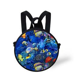 Backpack Fish Children Australia - Small 3D Children Backpack for Girls Boys Fish Preschool Baby Kids Kindergarten School Backpack Travel Bagpack Mochila Infantil #149913
