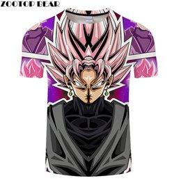 $enCountryForm.capitalKeyWord Australia - Wearing Earring Cartoon Goku 3D Print tshirt Men tshirt Summer Casual Short Sleeve Male O-neck Drop Ship