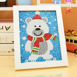 $enCountryForm.capitalKeyWord Australia - Retail 5D Diamond Painting kit with Frame, Christmas Diamond Painting, Square Drill Embroidery Cartoon Round Cross Stitch Decoration