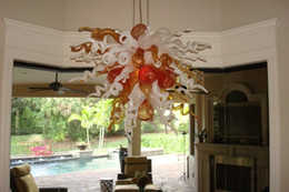 $enCountryForm.capitalKeyWord Australia - Wonderful Best Home Decoration Colorful Murano Glass Art Chandelier LED Light Source Chihuly Style Blown Glass Hanging Crystal